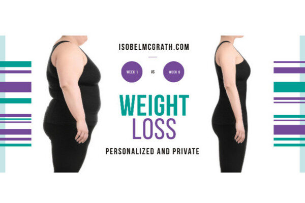 before and after results photo of woman's permanent weight loss from Isobel McGrath